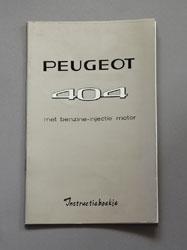 Peugeot 404,benzine-injectie motor,Instructieboekje,Nefkens Utrecht,Nr 1048, - OCR.pdf