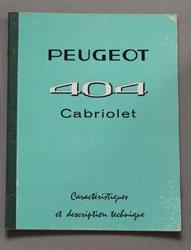 1962 Peugeot 404 Cabriolet Caracteristique %2b Description FR - OCR.pdf