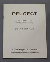 1964 Peugeot 404 Break Super Luxe Caracteristiques FR - OCR.pdf